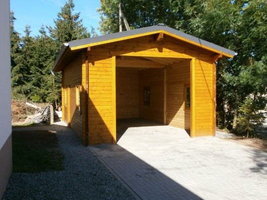 Garage, Holzbauweise, Blockbau