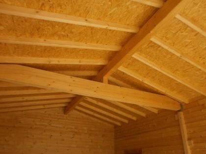 Holzdach, Dachkonstruktion, Blockhausbauweise