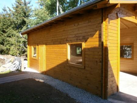 Garagenbau, Holzbau, Blockbauweise